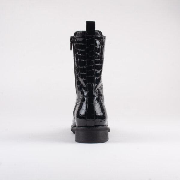 Footnotes   Lara croco vernice black